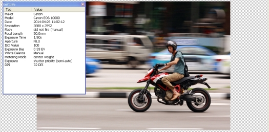 panning exif - aluvimoto