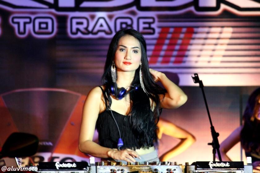 aluvimoto dj tengku dwi putri launching all new cbr150r yogyakarta