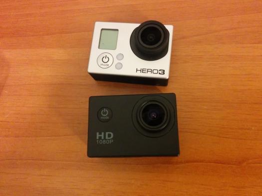 Quite similar, SJ4000 non wifi vs Go Pro Hero 3 (Pic by ferdi7650 / youtube)