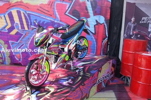 display modif all new sonic 150r aluvimoto