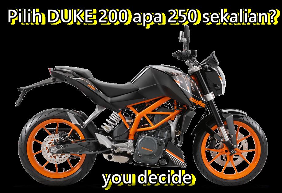 KTM RC/Duke 200 atau sekalian250?